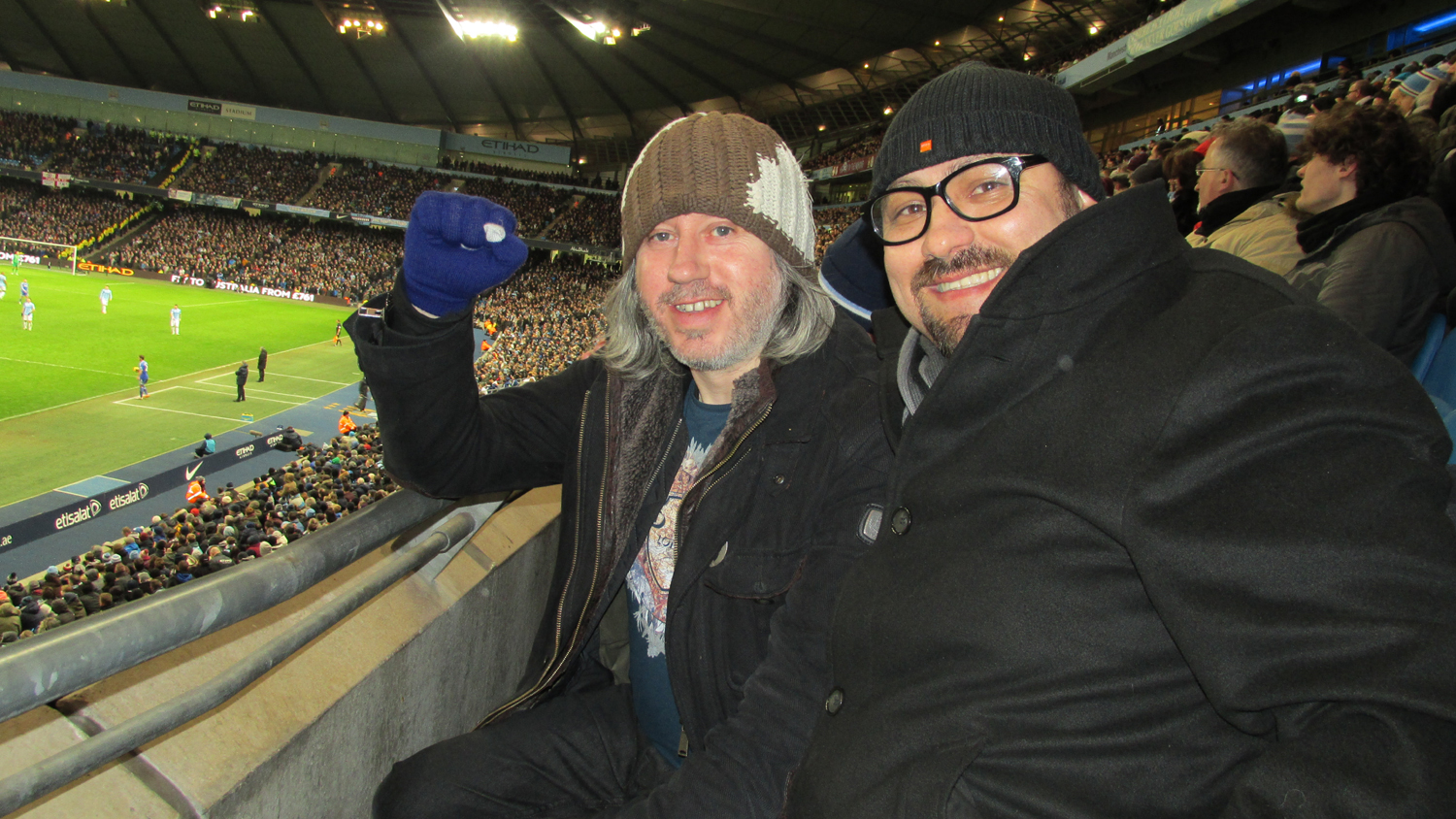 Badly Drawn Boy & Dave Sherwood at the Etihad