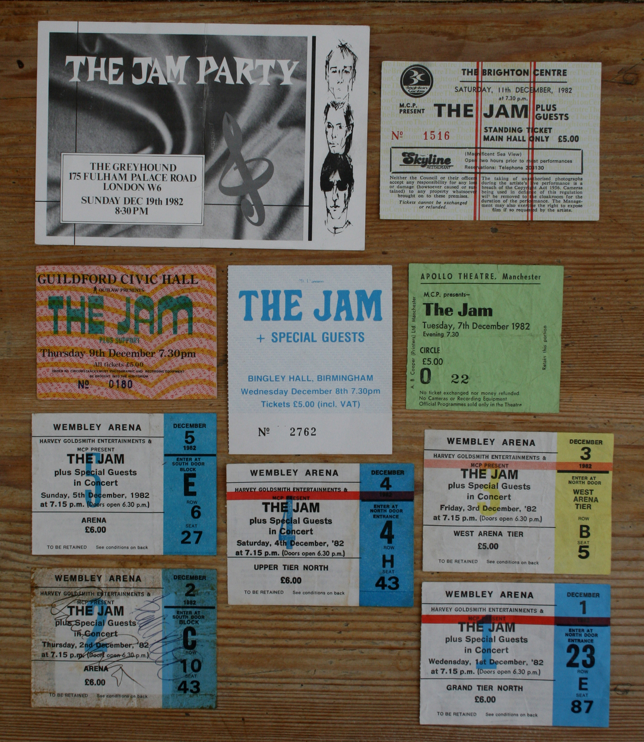 The Jam Ticket Stubs - code 11dec82