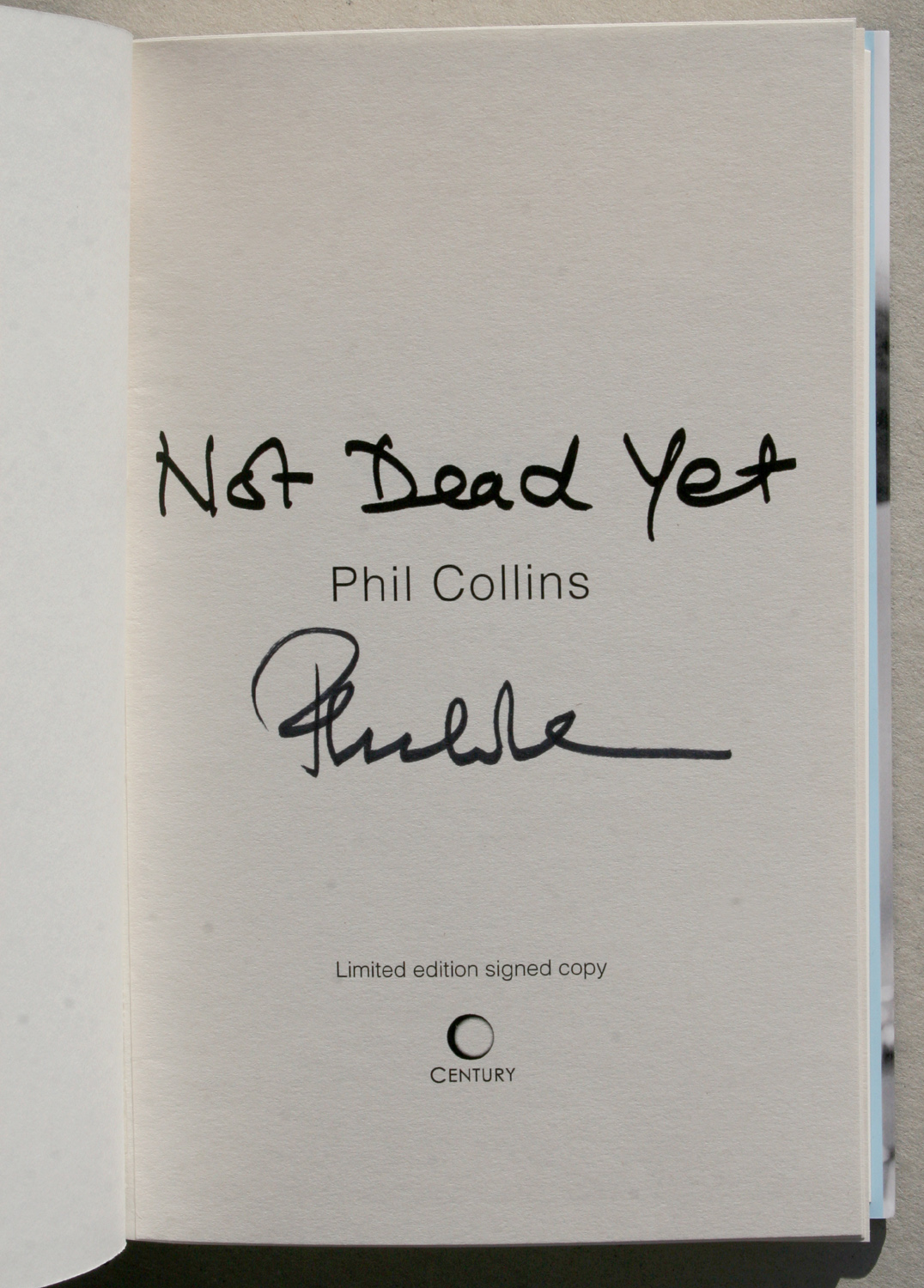 Phil Collins book code 14675
