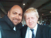 Boris Johnson (Mayor of London) & Dave Sherwood