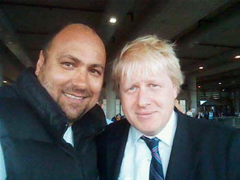 Prime Minister Boris Johnson & Dave Sherwood