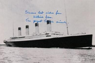 Millvina Dean (Titanic) - code 4894