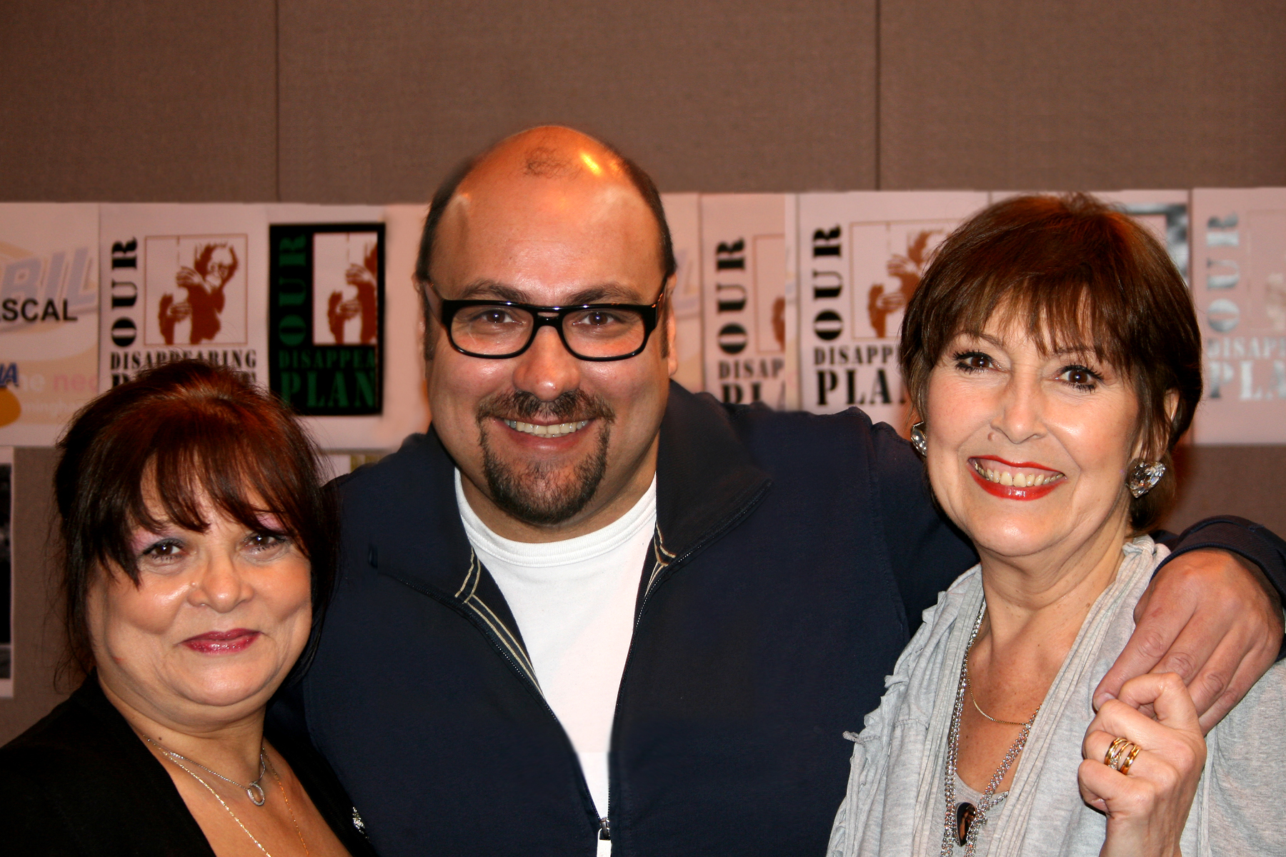 Francoise Pascal & Anita Harris with Dave Sherwood