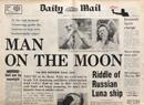 Man On The Moon Newspaper