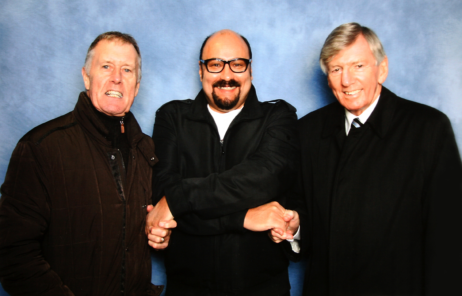 Sir Geoff Hurst & Martin Peters with Dave Sherwood