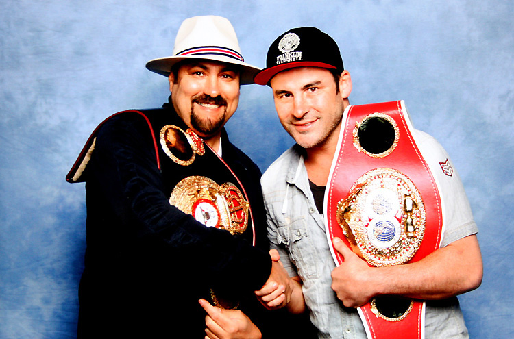 Joe Calzaghe & Dave Sherwood